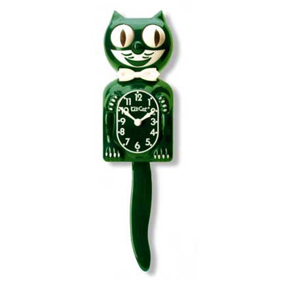 Hunter Green Limited Edition Kit Cat Clock