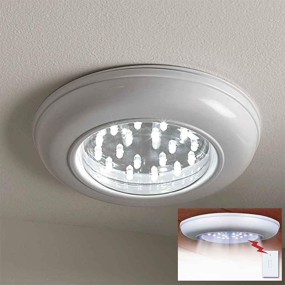 Battery Operated Led Ceiling Lights With Remote : Cordless ceiling light with remote colonialmedical