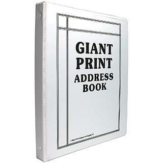 Maxi Aids Giant Print Address Book at Sears.com