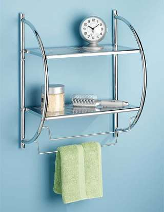Chrome Shelf and Towel Rack