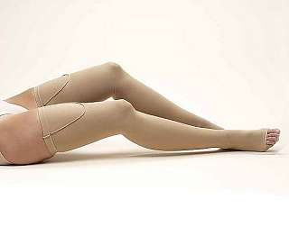 Truform AntiEmbolism Stockings Thigh High 1020mmHg BEIGE - X-LARGE - OPEN TOE