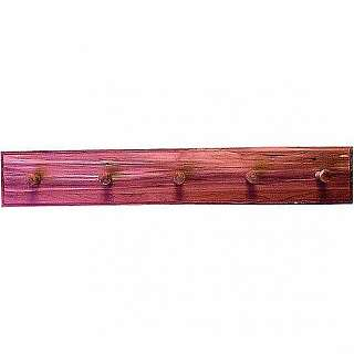Five Peg Cedar Coat Rack