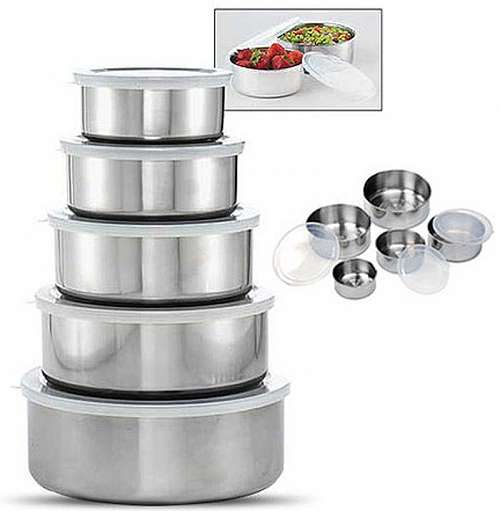 5 Piece Stainless Steel Bowl Set
