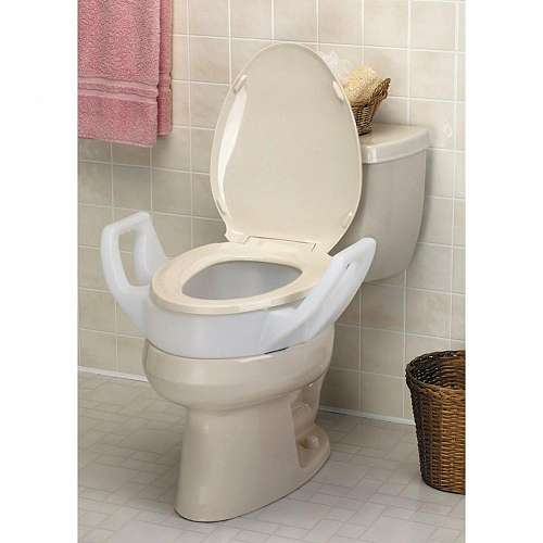Elevated Toilet Seat with Arms - 3.5""