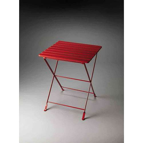 Butler Industrial Chic Red Folding Side Table