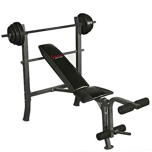 Sunny Health & Fitness SF-BH6510 100LB WeightBench Set