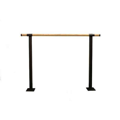 Single Bar Traditional Wood Fixed Height Floor Mount Ballet Barre System