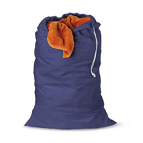 2 Pk Cotton Laundry Bag, 24 X 36 Blue