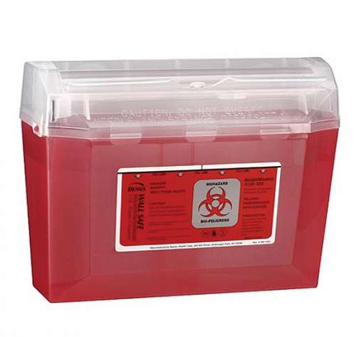 3 Quart Midsize Wall Safe Sharps Container