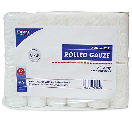 Non-Sterile Rolled Gauze
