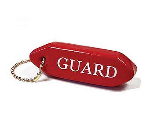 Solid Red Guard Key Chain
