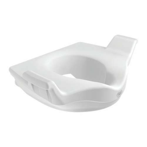 Locking Elevated Toilet Seat with Support Handle